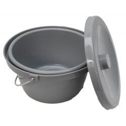 Commode Pan Lid and Handle