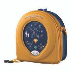 Heartsine 350P Defibrillator with external wall cabinet