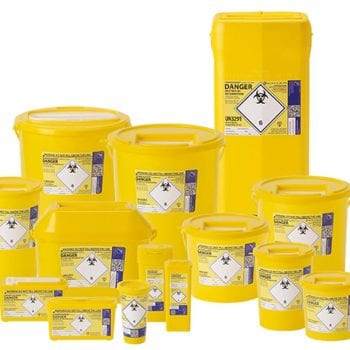Yellow Sharps Disposal Boxes