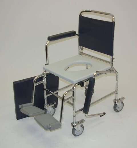 Deluxe Mobile Commode Heavy Duty