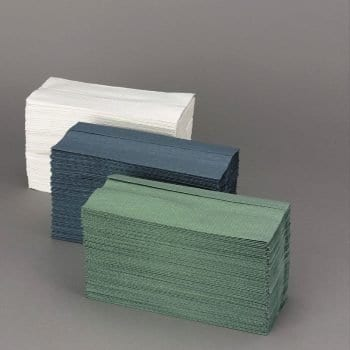 Paper Hand Towels – White, Green and Blue