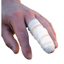 First Aid Finger Dressing