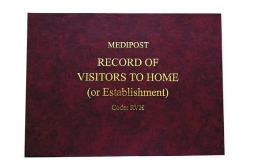Record of visitors to the Home
