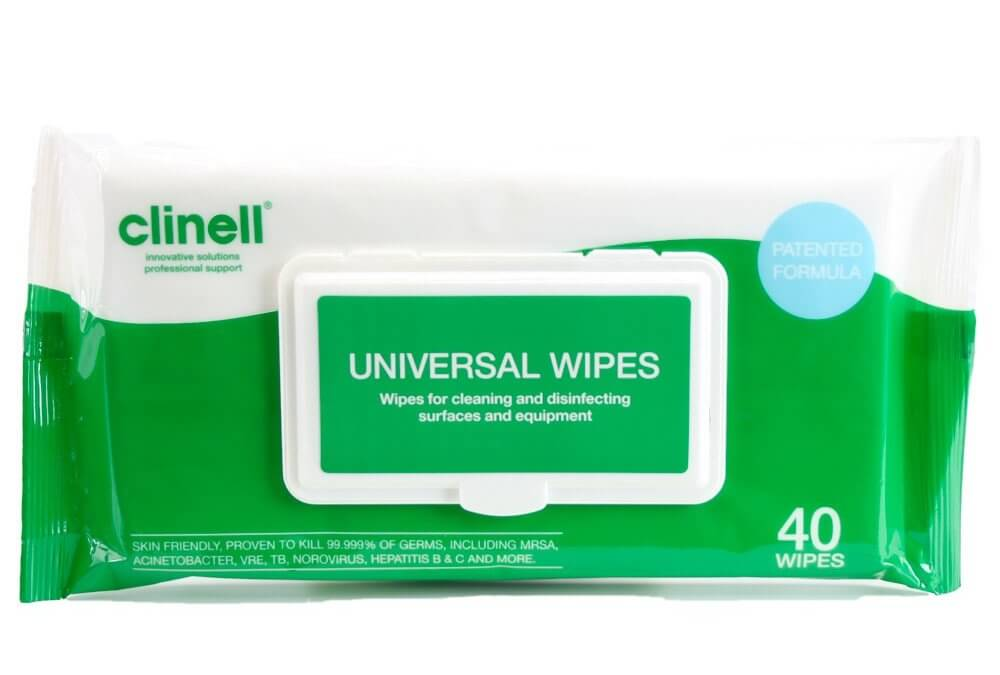 Clinell Universal Wipes (Packs of 40)