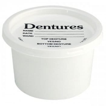 Denture baths and containers