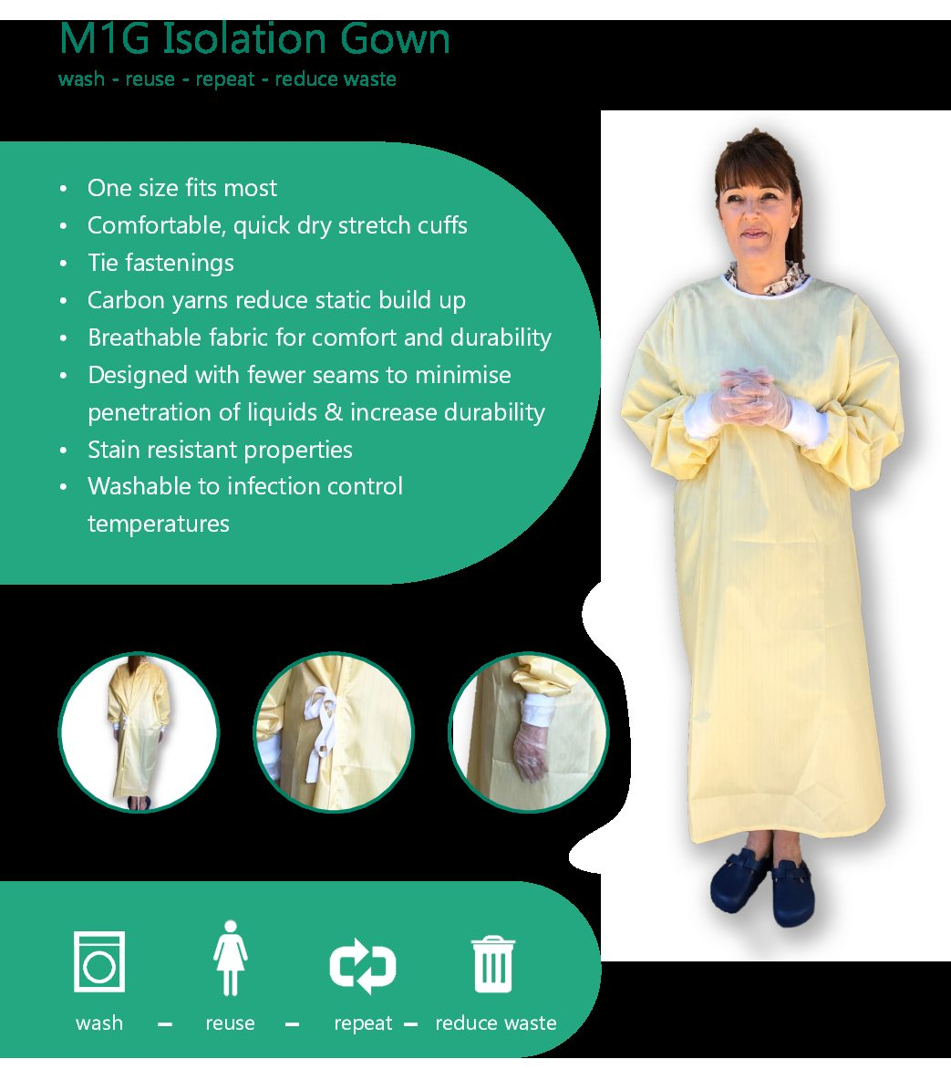Washable Isolation Gown
